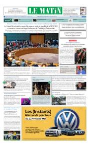 Edition Jeudi 02 Mai 2019