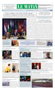 Edition Vendredi 27 Septembre 2019