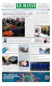 Edition Vendredi 27 Mars 2020