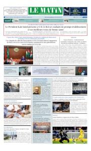 Edition Lundi 29 Juin 2020