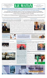Edition Mercredi 30 Septembre 2020