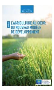 L'AGRICULTURE AU COEUR DU NOUVEAU MODÈLE DE DÉVELOPPEMENT