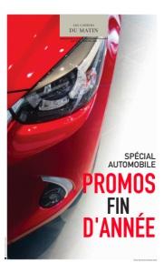 AUTOMOBILE : PROMOS FIN D'ANNÉE