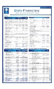 Bourse de Casablanca : Etat Financiers au 31 Décembre 2019