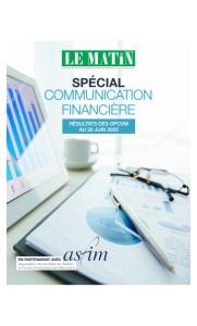 Spécial Communication Financière : Résultats Des OPCVM Au 30 Juin 2020