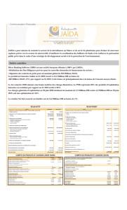 JAIDA :  Communication Financière