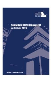 Fonds d'Equipement Communal : Communication Financière Au 30Juin 2020