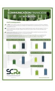 SCR : Communication Financière Au30 Juin 2020