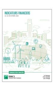 BMCI : Communication Financière Indicateurs Financiers  Au 31 Décembre 2020