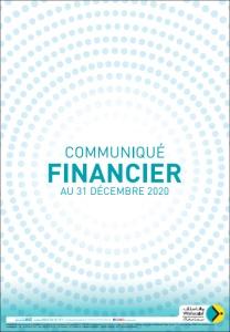 Wafasalaf : COMMUNIQUÉ FINANCIER AU 31 DECEMBRE 2020