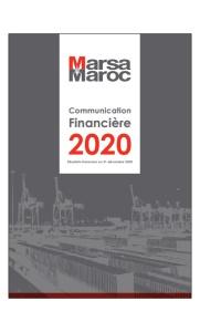Marsa Maroc : Communication Financière 2020  Résultats financiers au 31 décembre 2020