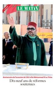 Anniversaire de l'accession de S.M. le Roi Mohammed VI au Trône : Dix-neuf ans de réformes soutenues