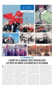 LE 6 NOVEMBRE 1975 : L'ESPRIT DE LA MARCHE VERTE POUR RELEVER LES DÉFIS DU MAROC D'AUJOURD'HUI ET DE DEMAIN
