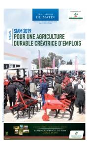 SIAM 2019 : POUR UNE AGRICULTURE DURABLE CRÉATRICE D'EMPLOIS
